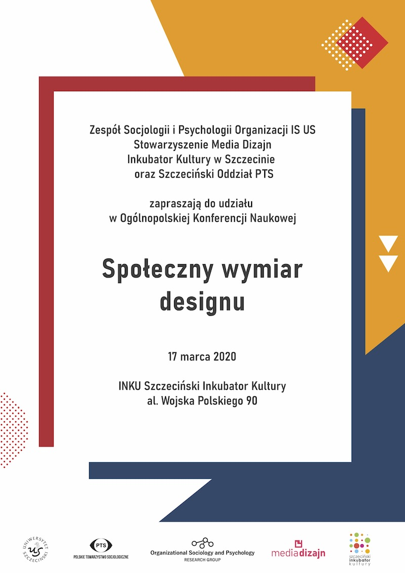 """Konferencja """"Społeczny wymiar designu"""" (17 marca 2020 r.)"""